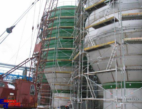 Produzione e Installazione Cisterne per Stockaggio Pasta di Cellulosa